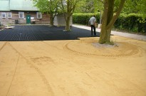 Sand covering GEO Grids