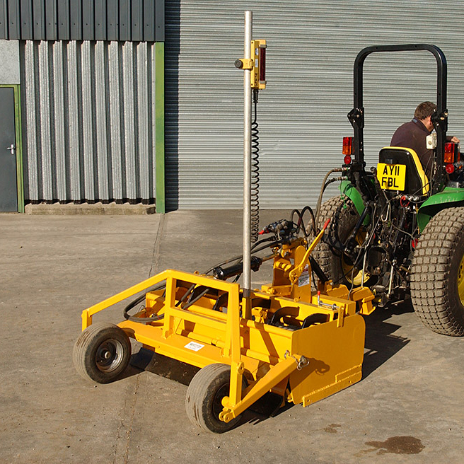 Gannon Grader Fitted With Dual Grade Laser Grassform