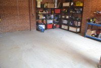 Garage before Installation of CheckerLok Flooring