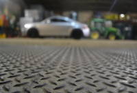 Close up on CheckerLok Flooring