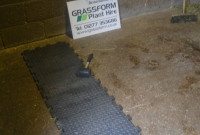Up Close View of CheckerLok Installation by Grassform