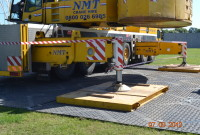 Grassform Installed Crane Mats
