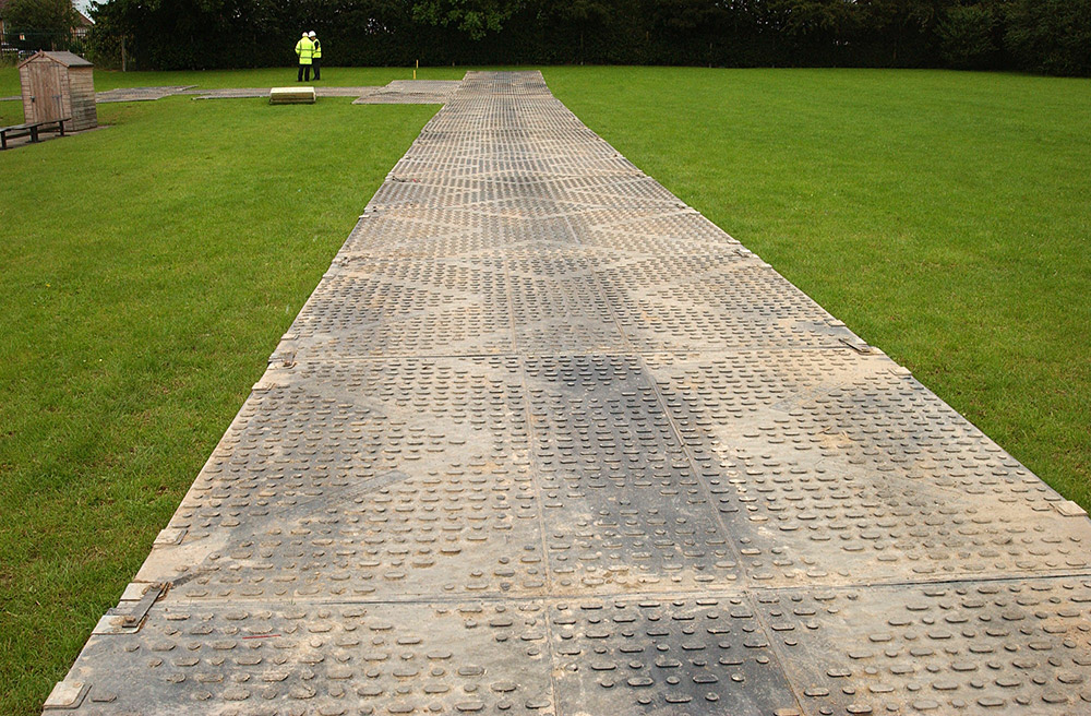 Tufftrak Trackway Temporary Roadways Heavy Duty Rubber Mats
