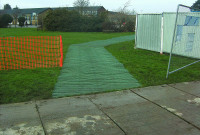 GrassProtecta reinforcement mesh - Install pathway followed