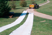 Ground Protection Mats - Trak Mats for plant machinery on Golf Course