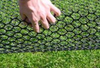 TurfProtecta Grass Mesh - Close up of mesh